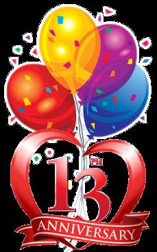 13th year anniversary