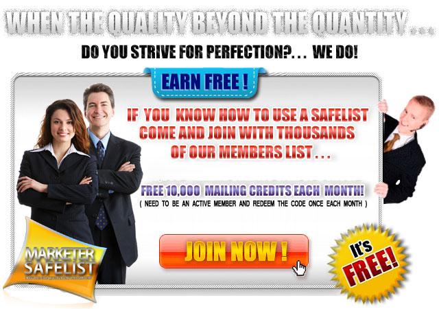 Marketer Safelist Login Ads #2